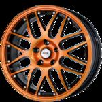 orange, schwarz, poliert