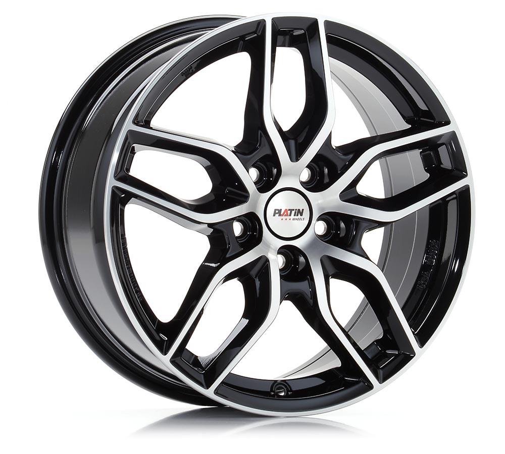 Jantes alliage PLATIN P 72 noir, poli | platin-wheels.com